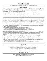 Sample Resumes Mortgage Underwriter Insurance A Good Resume Example