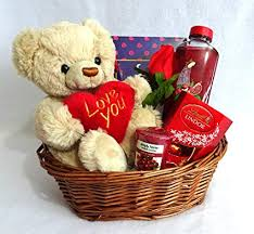 Valentines Day Ideas For Girlfriend Valentines Day Gift Basket Hamper For Her Birthday Gift For Wife Girlfriend Girlfriend Gifts Gifts For Wife Christmas Gift For Girlfriend Teddy