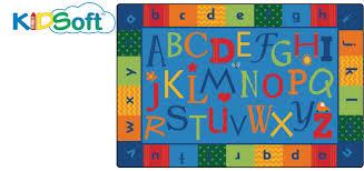 ck 4558 alphabet around literacy soft rug 8 x 12