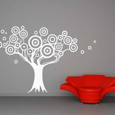 target tree circles branches decal