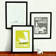 interesting inspiration bathroom wall art ideas stickers uk decor canada pleasurable