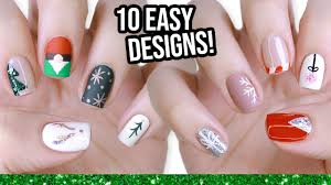 Art Designs Easy 10 Easy Nail Art Designs For Beginners The Christmas Edition