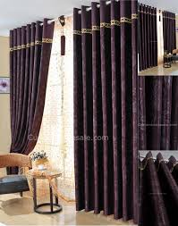 Professional Dark purple bedroom curtains also Suitable for Living Room