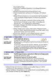 Electrical Engineering Sample Resumes Design Electrical Engineer Cv Field Sample Resume Plus