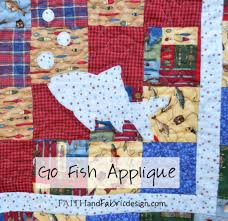 Fishing Theme Baby Memorial Quilt – Faith and Fabric & Applique Fish Quilt Adamdwight.com
