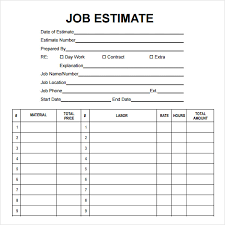 Estimates Templates Free Printable Construction Estimate Template Emmamcintyrephotography Com