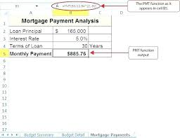 Mortgage Payment Amortization Schedule Excel Example 1088