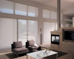 modern sliding door window treatments