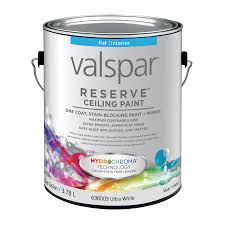 Valspar Reserve Ceiling White Flat Latex Interior Paint and Primer in One  (Actual Net Contents