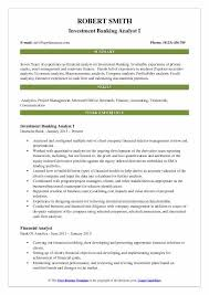How To Make A Modeling Resume Interesting Investment Banking Analyst Resume Samples QwikResume