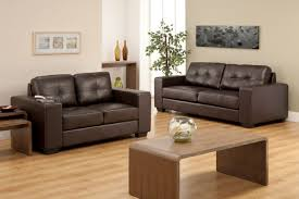 leather furniture design ideas. Contemporary Living Room Decorating Ideas With Dark Brown Leather Sofa In Modern Design Furniture
