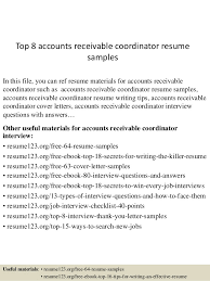 Top 40 Accounts Receivable Coordinator Resume Samples Delectable Accounts Receivable Resume