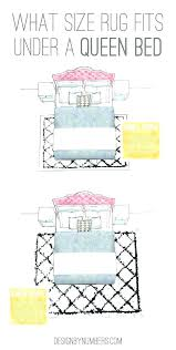 what size area rug under queen bed bedroom for rugs what size