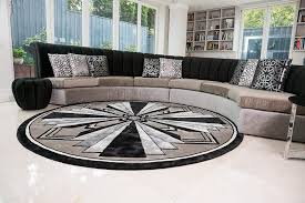 image of modern contemporary round rugs
