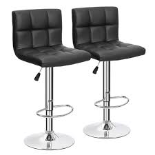 amazoncom furmax black leather bar stools counter height modern