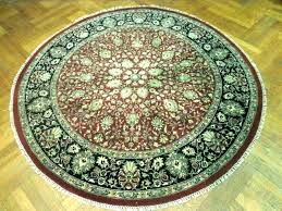 8 round rug pad 7 rustic ft for