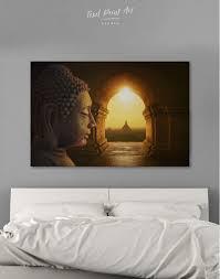 equanimity of buddha canvas wall art