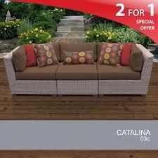 cocoa catalina 3 piece outdoor wicker patio furniture set 03c design furnishings