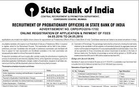 Sbi Po Recruitment 2062 Vacancies Bank Jobs For Engineers