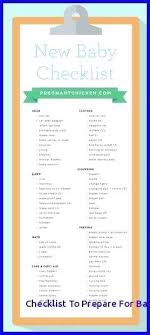 List Of Things You Need For A New Baby Newborn Supply Checklist