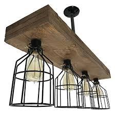 vintage farmhouse lighting. Farmhouse Lighting Triple Wood Beam Vintage Decor Chandelier Light - Great In Kitchen, Bar,