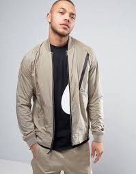 mens nike hypermesh varsity jacket size l 832190 235 khaki black