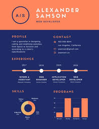 Infographic Resume Interesting Customize 60 Infographic Resume Templates Online Canva