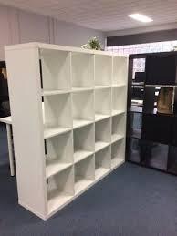ikea expedit 4 x 4 cube shelving unit now kallax white