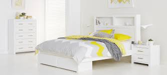 Snooze Bedroom Suites Carla Bedroom Furniture High Gloss White Finish Bed Includes