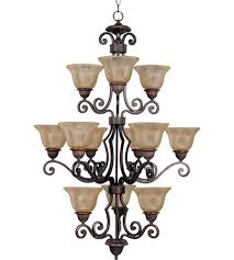 maxim 11238saoi symphony 12 light 30 inch oil rubbed bronze multi tier chandelier ceiling light in screen amber