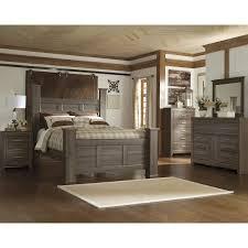 At HOME Juararo 4 Piece Queen Bedroom Set In Dark Brown ...
