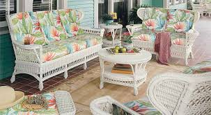 White Vintage Wicker Seating and Dining Sets