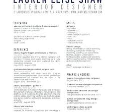 Sample Interior Design Resume Interior Designer Resume Sample ...
