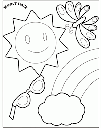 Small Picture Free Preschool Summer Coloring Pages Coloring Home