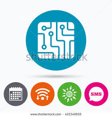 circuit icon stock images royalty images vectors wifi sms and calendar icons circuit board sign icon technology scheme square symbol