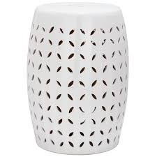 patio stool: safavieh lattice petal white garden patio stool acsa the home depot