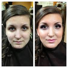 before and after dinair s airbrushmakeup