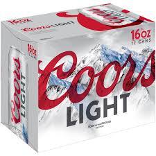 Case Coors Light Coors Light Beer American Light Lager 12 Pack Beer 16 Fl Oz Beer Cans Walmart Com