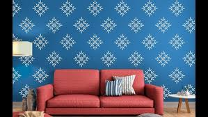 stencil design for wall painting