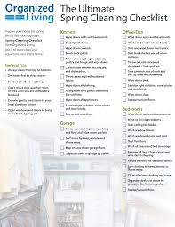 cleaning checklist the ultimate spring cleaning checklist part 2 organized living
