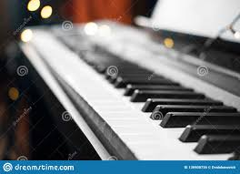 Piano Key Lights Piano Keys Lights On Background Stock Photo Image Of
