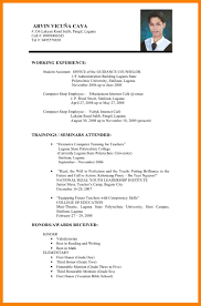 Sample Of Resume 100 Resume Example Philippines Sales Resumed 92