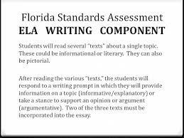 synthesis essay florida standards assessments florida standards  florida standards assessment ela writing component students will several texts about a single topic