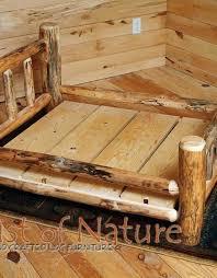 wooden dog bed frame handmade log dog bed kit wood dog bed frame log home accessories wooden dog bed