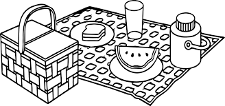 Small Picture Summer Picnic Coloring Page Wecoloringpage