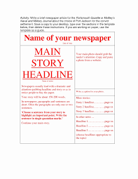Blank Old Newspaper Template Awesome Lovely Editable Newspaper ...