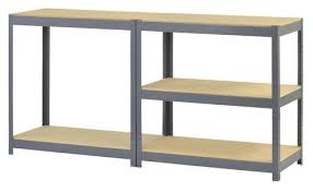 edsal 5 shelf steel storage rack 72h x 36w x18d at menards shelves racks