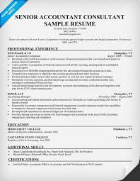 Gallery Of Resume Format Accounting Resume Samples Accounting