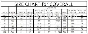 Frc Coverall Size Chart Mens And Womens 100 Cotton Fire Retardant Coverall Suit Buy Coverall Suit Fire Retardant Coverall Suit Cotton Coverall Suit Product On Alibaba Com