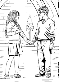 Free Harry Ron And Hermione Coloring